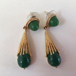 Kelley Hollis vintage-style jadite earrings